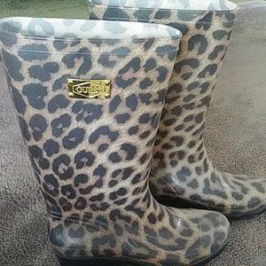 Shoes - Animal Print Rain Boots